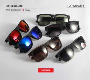 новый бренд классический топ поляризованных солнцезащитных очков мужчин вождения женщины солнцезащитные очки rd4165 очки с Коробка градиент солнцезащитные очки Солнцезащитные очки Джастин