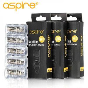 100 % otantik Aspire Nautilus Bobin 0.7 ohm 1.6 ohm 1.8 ohm nautilus bvc bobinleri için aspire nautilus 2 tankı
