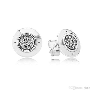 100% Real Sterling Silver Stud Earrings Ear ring for Women with Original gift box for Pandora style EARRING