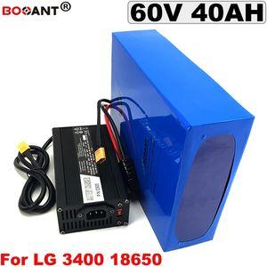 60 v 40AH BBSHD BBS02 2000 Bicicleta Bateria Elaterica Bateria Bafang 3000 W Do Motor LG 18650 + 5A Carregador Frete
