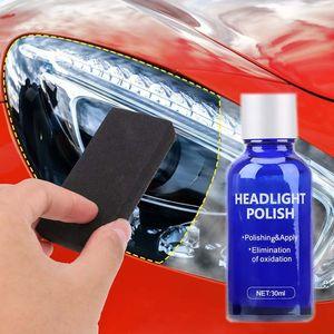 30ML Auto-Scheinwerfer-Reparatur-Werkzeug Auto Restoration Kit Oxidation Rück Glas Liquid Polish Scheinwerfer Polieren Anti-Kratz-Mantel-Überzug