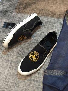 Summer slip on brand shoes for men high quality letter embroidered bee mens designer shoes casual men designer shoes loafers