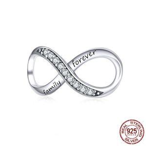 Di alta qualità reale sterlina d'argento lettere gioielli Charms famiglia eterna Endless pendente per collane del braccialetto poco costoso all'ingrosso Cina