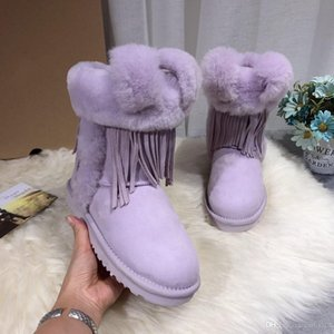 Fashion new Outdoor hot sell 100% wool winter Australia Classic snow Boots fashion tall shoes real leather Bailey Bowknot women bow Knee men