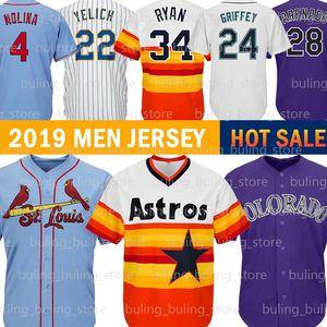 4 Yadier Molina Baseball Jerseys 1 Ozzie Smith 24 Ken Griffey Jr. 34 Nolan Ryan 2 Alex Bregman Christian Yelich 28 Nolan Arenado