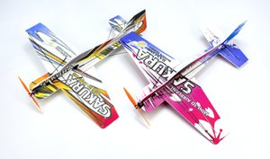 Mini RC Airplane 3D Aerobatic Flying Aircraft EPP PP Foam Glider Toy Planes Wingspan 451mm DIY Model Aeroplane Unassembled KIT Y200317