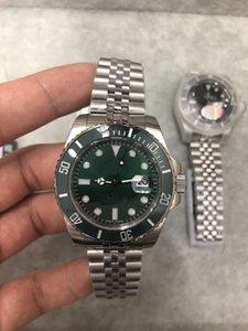 U1 fábrica de la alta calidad superior del reloj para hombre SUB 116610LV Sapphire 40MM Verde Dial bisel de cerámica 316L Jubilee correa superior los relojes mecánicos