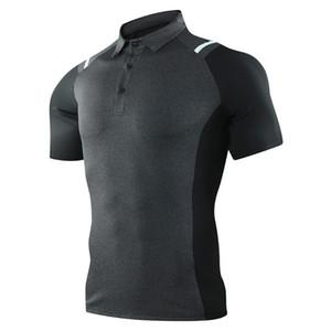 2020 Nouveau Golf Vêtements respirant Hommes d'été Golf Sport Respirant Chemise de fitness de sport d'hommes Lapel T-shirt