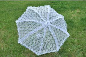 Toptan Güzel Beyaz Dantel Gelin Şemsiye Düğün Şemsiyeler Ucuz Gelin El Düğün Güneş Şemsiye Sahne Umbrella Dancing