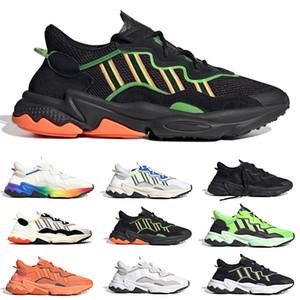 New Pride 3M Reflective Xeno Ozweego Мужчины Женщины Повседневная обувь Хэллоуин неоновый зеленый Tones Pride Тренер Спорт кроссовки Размер 36-45