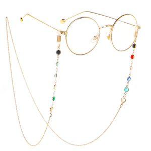 Icey 2019 nuova vendita calda perline di vetro fatti a mano catena presbiopia occhiali pietra naturale catena anti-perdita di alta qualità