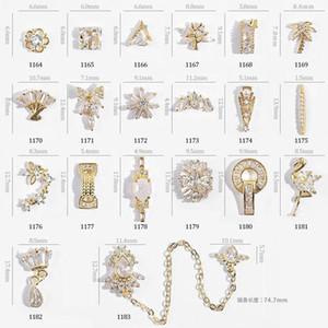 NA057 تدوير الزركون 3d المعادن والمجوهرات مسمار فن الديكور مسمار الفن التبعي وهمية تصميم الأظافر الفاخرة الماس