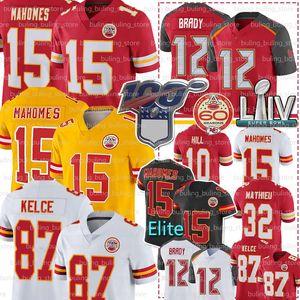 15 Patrick Mahomes jerseys KansasCiudadJefe 12 Tom Brady Jersey 87 Travis Kelce 32 Tyrann Mathieu Tyreek Hill LeSean McCoy Fútbol