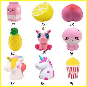 퀴시 장난감 딸기 향수 크림 우유, 레몬, 복숭아 파인애플 유니콘 해파리 팝콘 점보 장식 느린 상승 Squishies 무료 배송