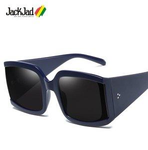 JackJad 2020 Fashion Cool Square ButterFly Style Rivets Sunglasses Women ins Popular Brand Design Sun Glasses 9055
