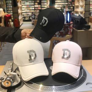 Weibliche Kappe der Designerluxushüte mit Diamantrhinestones beschriften die Mode-Gezeiten-Hip-Hop-Hutsommersonnenhüte der Baseballmütze-Frauen