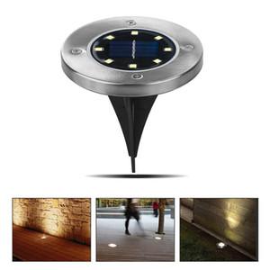 Ambientazione esterna luce solare impermeabile 8 Street solare a LED Luce decorazione del giardino sepolta lampada sotterranea Stair Decking