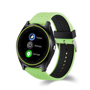Sıcak satış apple iphone hr smart watch kamera kalp hızı monitörü ile bluetooth android telefon için smartwatch sim kart kol
