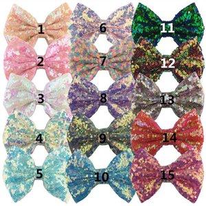 Ins 5inch sequin hair bows girls hair clips glisten designer hairclips kids barrettes baby BB clip girls hair accessories B1171