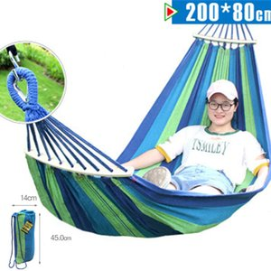 200*80CM Hammock Leisure Outdoor Furniture Hanging Double-Bed Sleeping Bed Canvas Cloth Swing Camping Home Garden