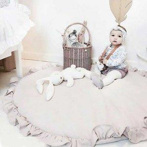 MUQGEW animales de la historieta del bebé juega las esteras del cojín del niño de los niños Manta se arrastra redonda Alfombras Tapetes Juguetes Mat para los niños decoración de la habitación Foto SH190917