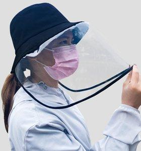 2020 Face mask Unise Protective Cap Anti-Fog hat Isolation Mask Sun Hat Face Shield Fisherman Hat Anti-Spitting Splash Facial Cover