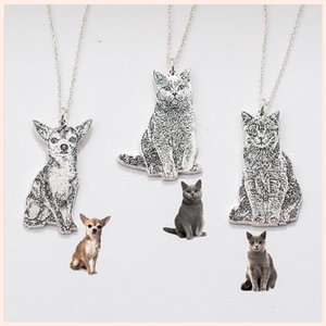 personalização StrollGirl 925 Sterling Silver Personalized Pet Dog Cat Colar Pingente Pet Memorial Jewelry New Arrival