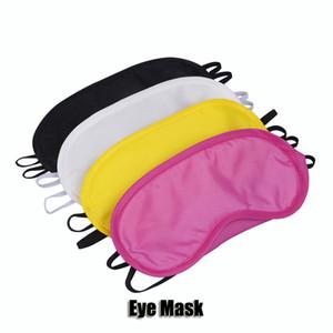 Masque noir yeux polyester éponge ombre Nap Couverture Blindfold Masque pour dormir Voyage polyester Soft Masques 4 couches