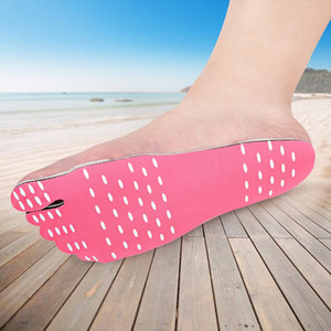 Beach Barefoot Invisible Shoes Insole Heat Insulation Waterproof Non-slip Stick On Adhesive Foot Protection Pad Stickers
