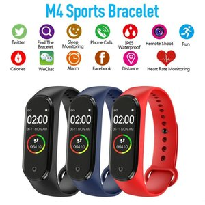 M4 inteligente Banda de Fitness Rastreador Esporte pulseira Pressão Ritmo Cardíaco Sangue Fitbit Waterproof Monitor de freqüência cardíaca mi 4 Banda Com pacote de varejo