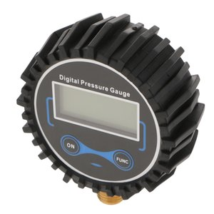 Digital Tire Inflator With Pressure Gauge, 200 PSI Air Chuck And Compressor Accessories With LED Backlit Screen Black