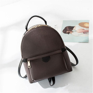 2019 mochila de diseño para el bolso de la bolsa posterior de la moda las mujeres de cuero paquete del hombro presbicia primavera palma de mini mochila bolsa de mensajero de teléfono pur