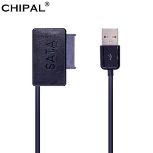 Cabos de computador Escritório Computador Connectors CHIPAL USB 2.0 para 7 + 6 13Pin Mini SATA II cabo adaptador com LED indicador para