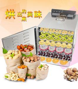 6 di verdure vassoi Dehydrator alimentare snack disidratazione Dryer erba frutta a base di carne asciugatura macchina in acciaio inox 110V 220V UE USA