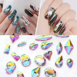 20Pcs Nail Art Rhinestones Crystal AB Flat Back Strass Nail Rhinestone for Charms 3D Glue On Nails Diy Diamonds Accessories