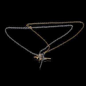 Crucifix Cross Jesus Piece Necklace&Pendants Vintage Classic Punk Statement Necklace Trendy Male Silver Gold Color Men Jewelry