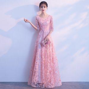 Gonna abito da sera per banchetti Donna Nobile Grace Dignified Atmosphere Company Annual Meeting Thin Pink Colour Bridesmaid Serve