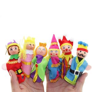 NOUVEAU 6 pièces Finger Puppets Set Mini peluche famille Baby Toy Garçons Filles Finger Puppets enseignement de l'histoire en tissu Marionnette Jouets Poupée nouveau 222