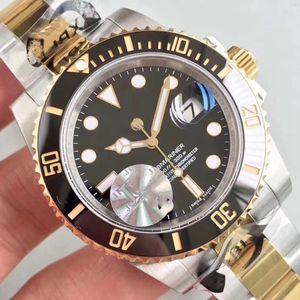 Mens de lujo del reloj desinger GMT cerámica Bisel Sea-Dweller movimiento automático de acero inoxidable relojes de pulsera hombre