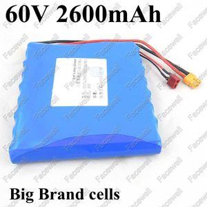 GTK 60v monociclo eléctrico batería 60v 2.6ah batería de litio 60v 2600mah 18650 batería de células de marca con BMS para scooter