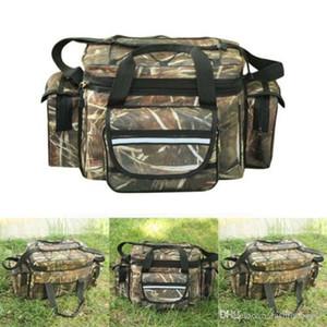 Pesca impermeable Tackle bolsa de hombro de la correa de equipos de almacenamiento bolsillos Bolsa bolsas de pesca hombro abordar ganchos de la caja de accesorios de camping caza 600