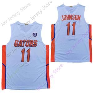 2020 Новый NCAA College Флорида Аллигаторы Статистика Трикотажные изделия 11 Keyontae Джонсон Баскетбол Джерси белый Размер молодежи взрослых