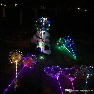 شفافة مضيئة 3 أمتار مضاءة بقيادة بالون وامض عرس حزب زينة عطلة لوازم اللون مضيئة البالونات بوبو