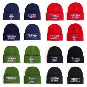 Президент Trump 2020 Вязаные шапки Keep America Great Вышивка Зимние теплые лыжные шапки для вязания крючком Наружная вязаная шапочка TTA1638