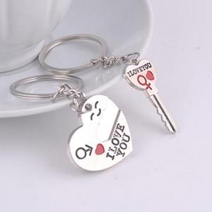 Casal Eu te amo coração Keychain Anel Keyring criativa favor de partido Amante Romântico aniversário criativa LXL935Q presente