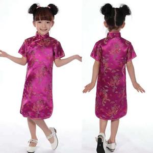 Neonate Vestono Abiti Estivi Cheongsams Cinese Per Le Ragazze Vestito Tradizionale Cinese Per I Bambini Vestito Di Linguetta