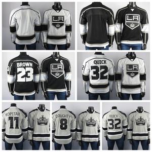 Los Ángeles Reyes jerseys Drew Doughty Jersey Dustin Brown Jonathan Quick Anze Kopitar de los hombres bordados Negro hockey sobre hielo Jerseys cosido