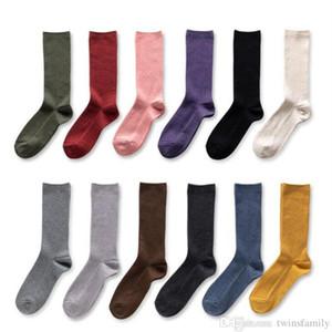 Calcetines invierno sólido medias de algodón de moda calcetería Las mujeres de arranque largo calcetines hasta la rodilla con adultos calcetines deportivos Calcetines calentador de la pierna DYP7075