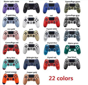 22Colors! 소매 상자 EU / US 버전으로 DUALSHOCK 4 PS4 진동 조이스틱 게임 패드 게임 컨트롤러 무선 블루투스 컨트롤러