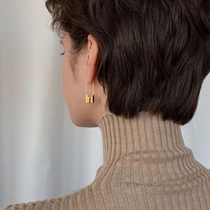 Lock Earrings Women Fashion Jewelry Special Cool Punk Elegant Small Piercing Gold Drop Earring Ladies Girls Party Jewellery